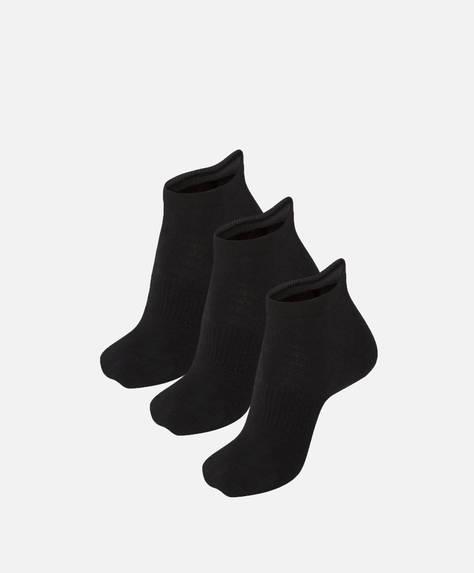 3 calcetines tobilleros de algodón
