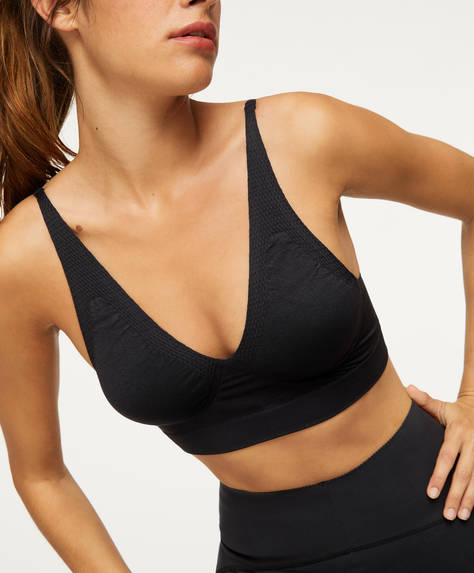 Seamless triangle sports bra