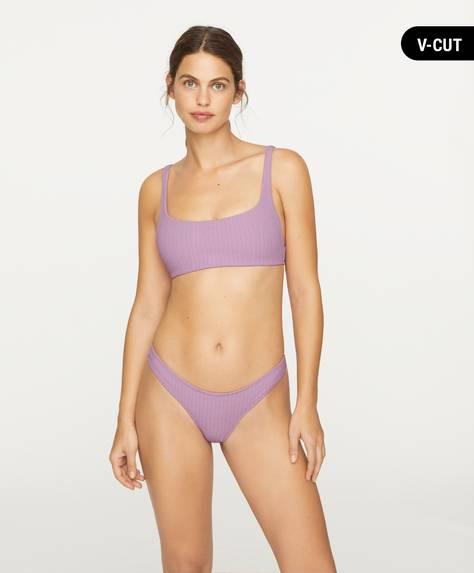 Braguita bikini brasileña en corte V