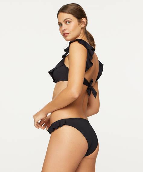 Classic bikini bottoms with ruffles