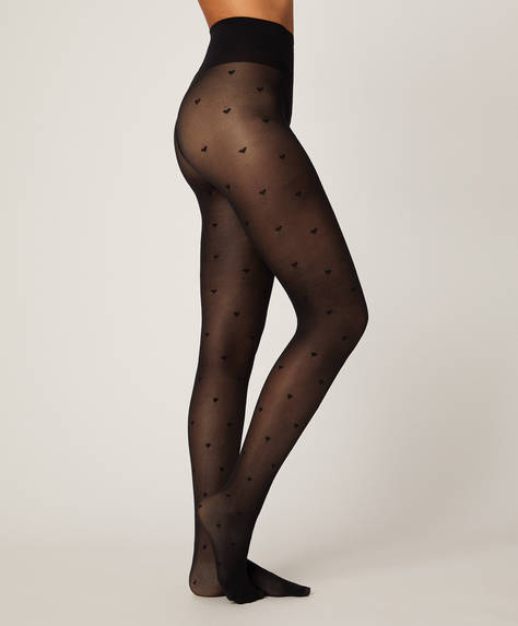 20 denier heart tights