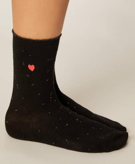 5 pairs of heart socks