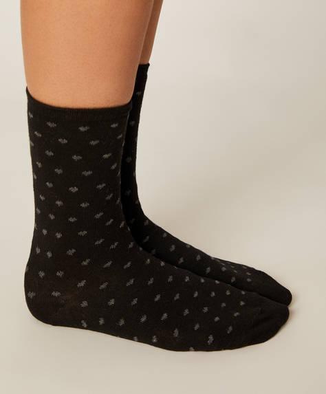5 pares calcetines corazones