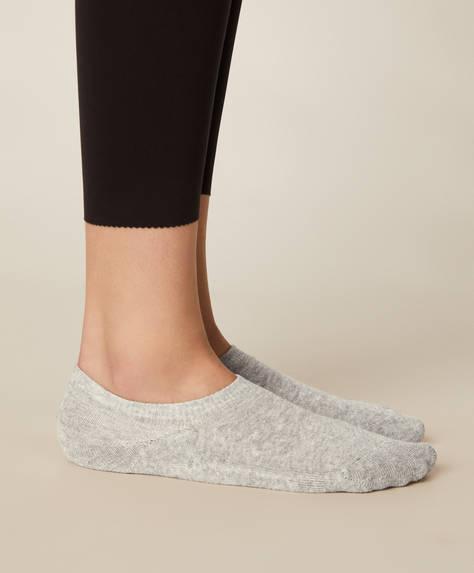 3 pares de meias pés invisíveis desportivas