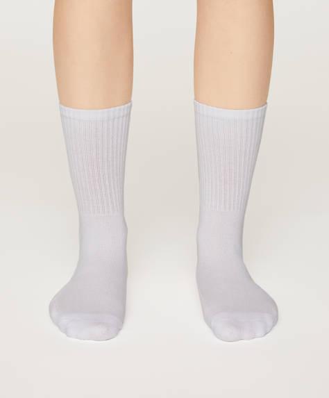2 pares de calcetines deportivos con algodón