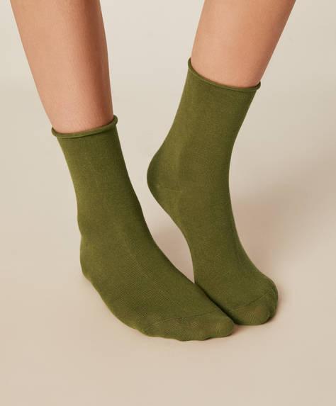 1 par de meias de cor sólida básicas