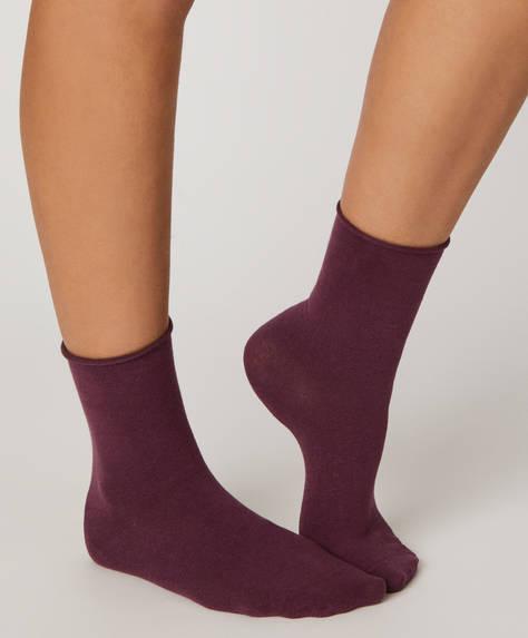 1 par de calcetines liso básico