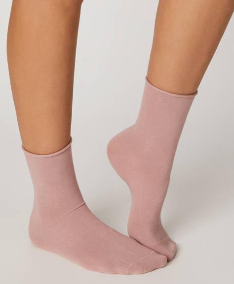 1 Paar einfarbige Basic-Socken