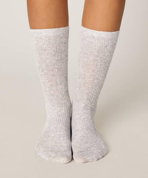 1 çift basic fitilli çorap