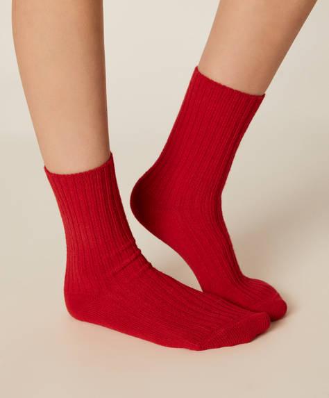1 paar grof gebreide sokken