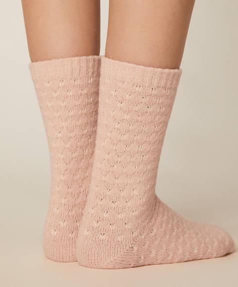 1 paire de chaussettes roses