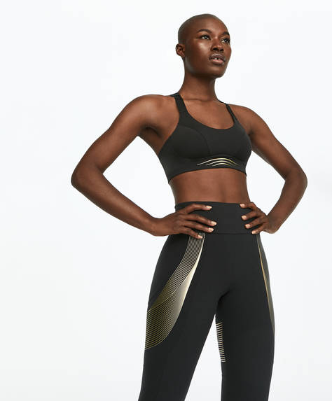 Gold detail sports bra