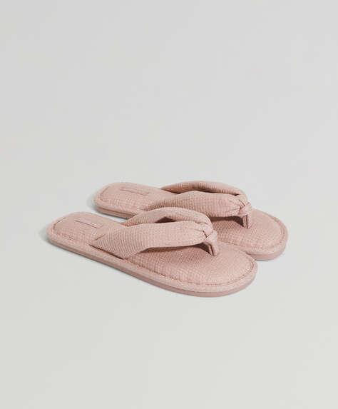 Sandalia waffle rosa