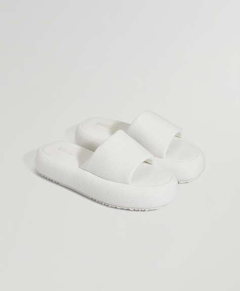 Sandalia plataforma algodón