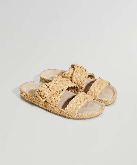 Sandalia trenzada artesanal