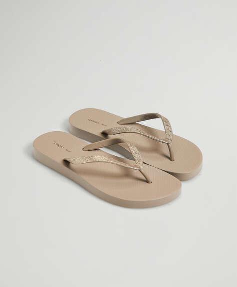 Shiny beach sandals