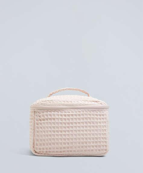 Square waffle wash bag