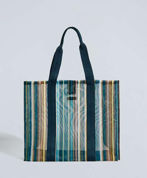 Maxi-Shopper mit Streifen