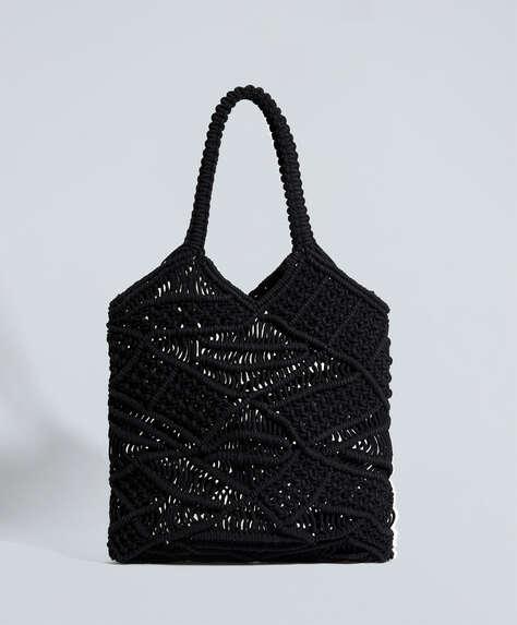 Τσάντα tote μακραμέ