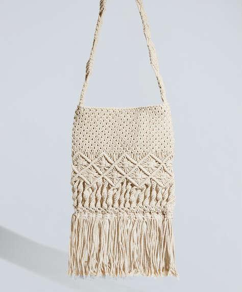 Macramé messenger bag