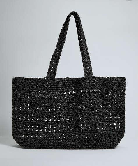 Openwork tote bag