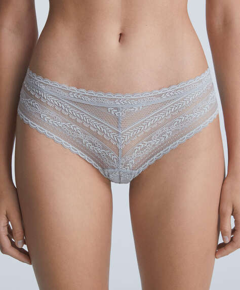 Lace V-cut hipster briefs