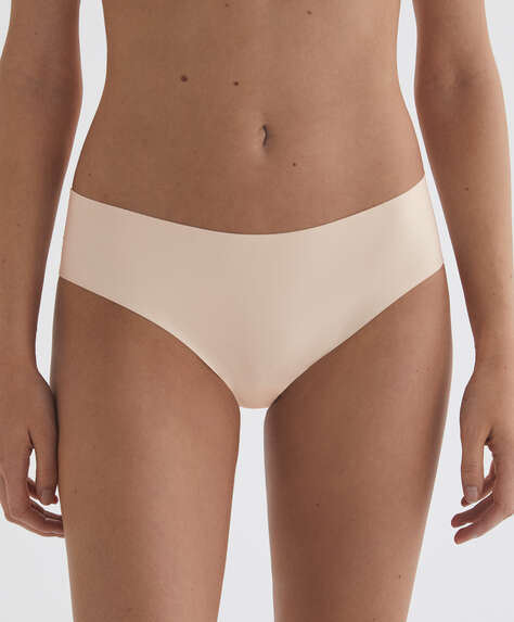 Invisible laser-cut microfibre hipster briefs