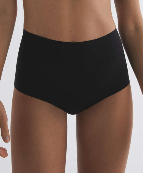 Invisible laser-cut microfibre briefs with high waist