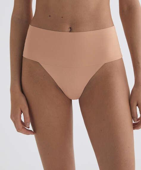 Laser-cut high-waisted thong