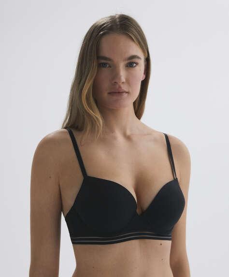 Microfibre push-up bra