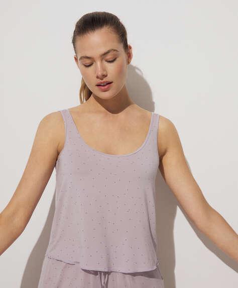 Star print modal vest top