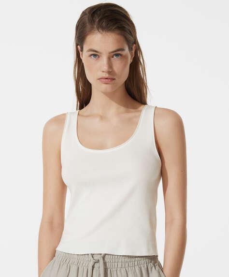 Organic cotton sleeveless vest top