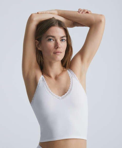 Seamless lace vest top