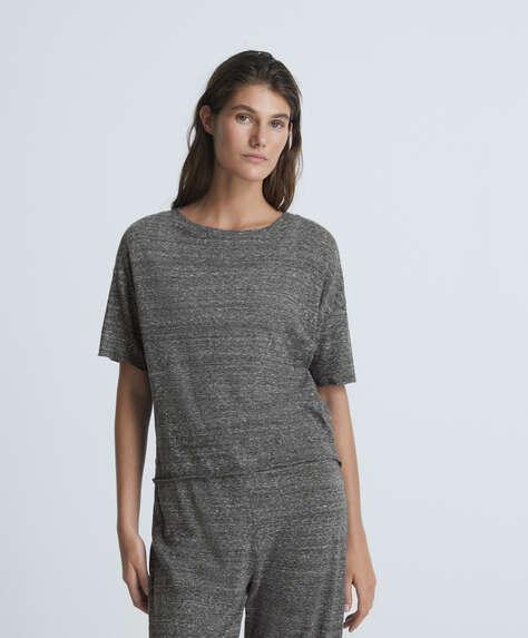 Short-sleeved viscose T-shirt