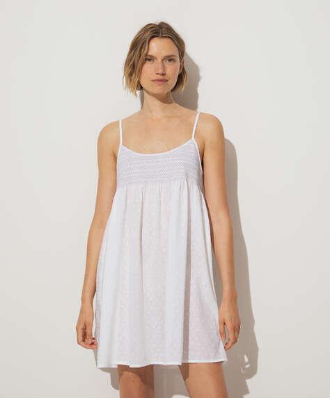 Camicia da notte 100% cotone bianco