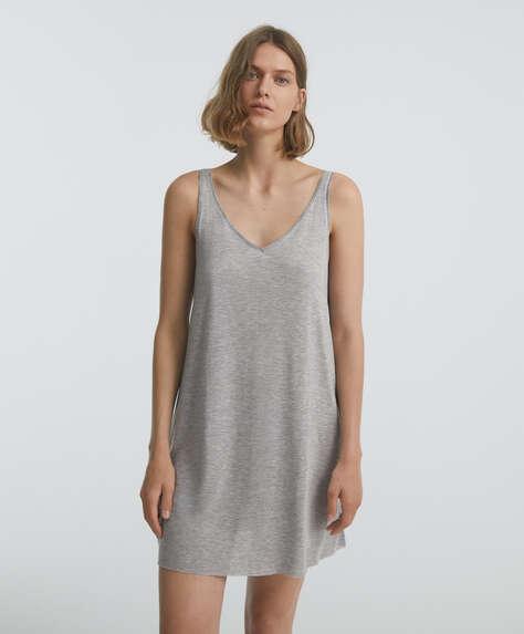 Tencel nightdress with thin straps