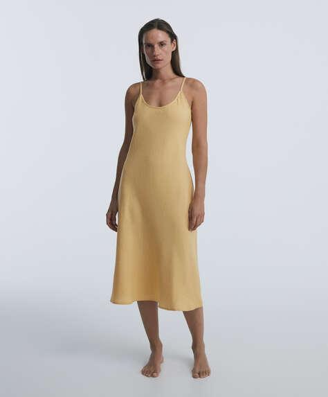 Long 100% linen nightdress