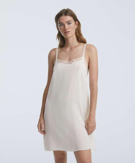 Short lace nightdress