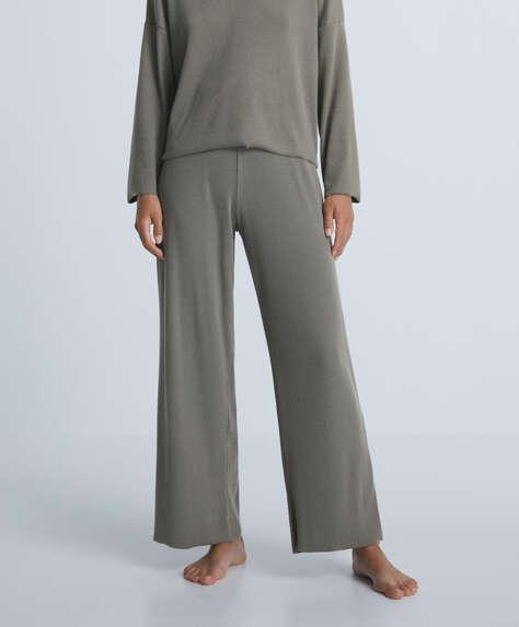 Relax rib trousers