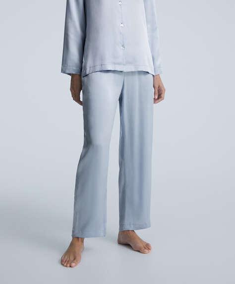 Pantalón largo 100% seda