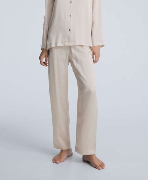100% silk trousers
