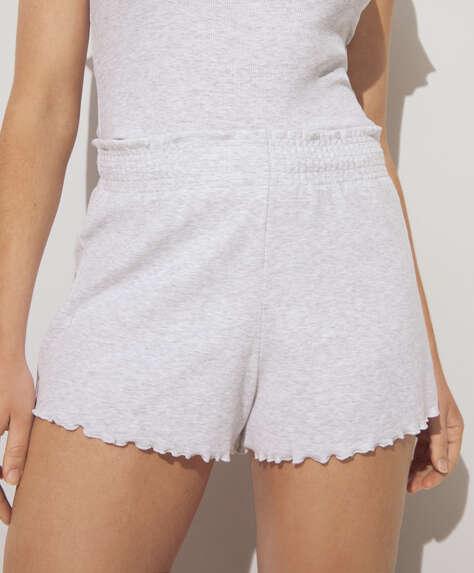 Curled edge shorts