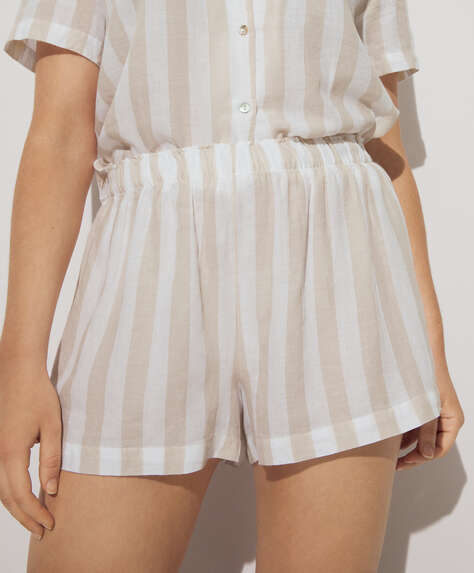 Shorts 100% algodón raya