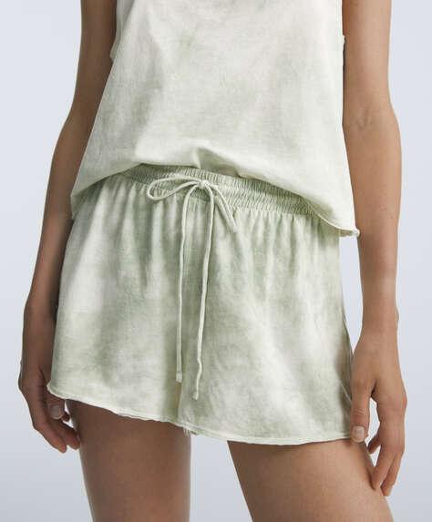 Shorts tie dye 100% algodón