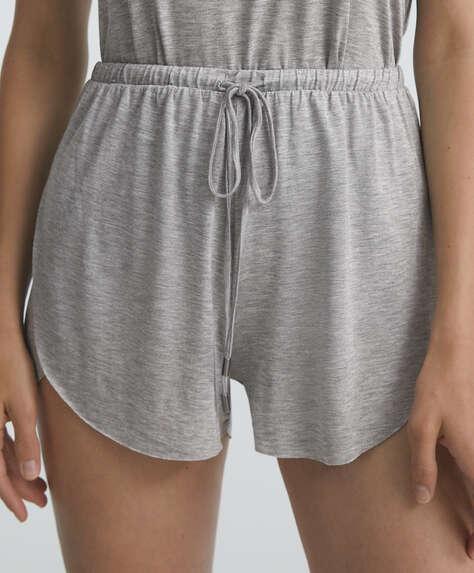 Plain Tencel® shorts