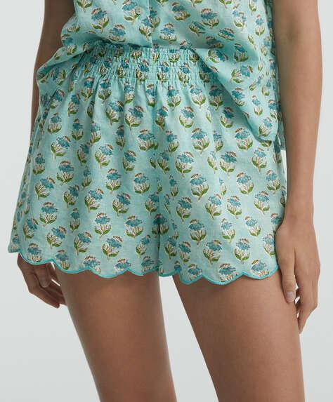 100% cotton scallop shorts