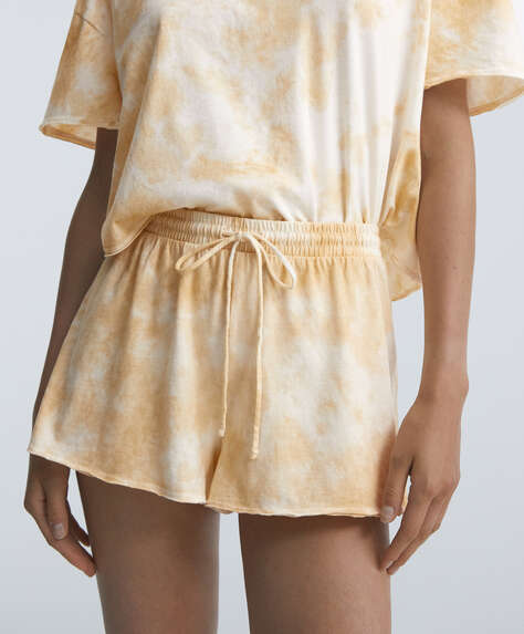 Tie-dye 100% cotton shorts