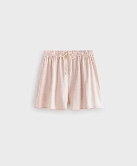 100% cotton stripe shorts