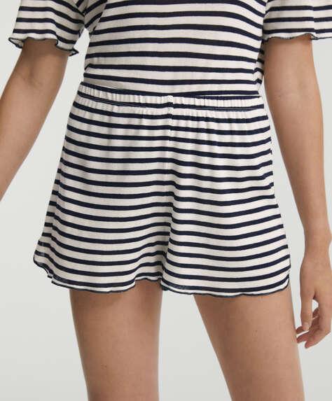 Breton stripe cotton shorts