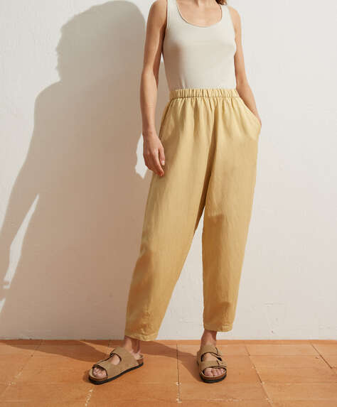 Slouchy linen trousers